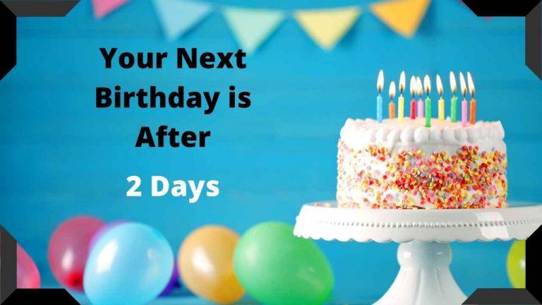 how many days till my birthday